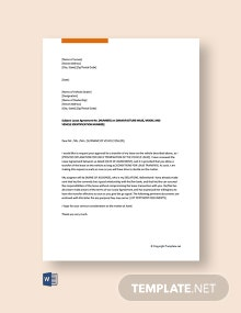 Free Vehicle Lease Transfer Letter
