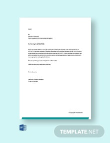 Free Warning Letter to Tenant for Violations