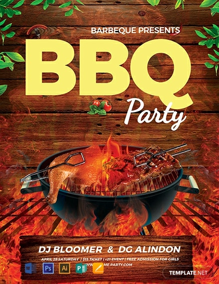 Free Bbq Flyer Template Download 882 Flyers In Psd Illustrator