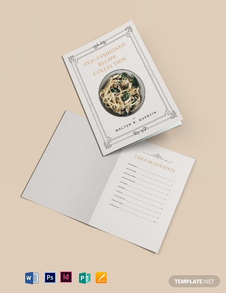 Antique Cookbook Template
