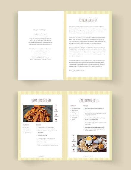 Editable Kid Cookbook Template
