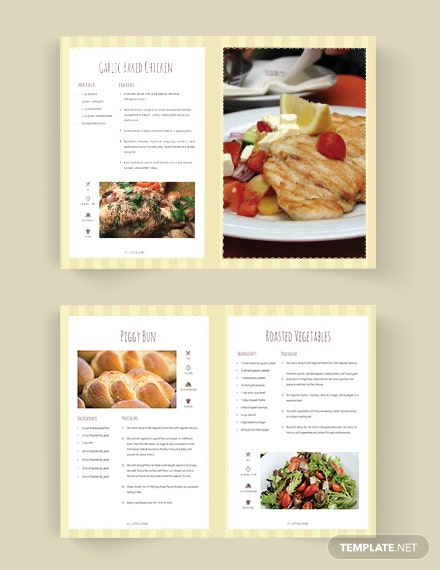 Kid Cookbook Template