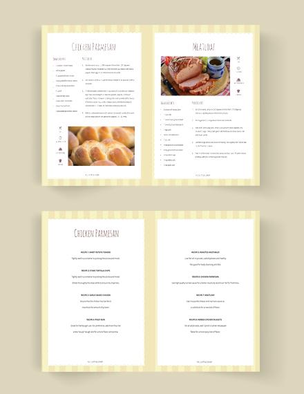 Printable Kid Cookbook Template