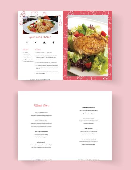 Download Kindergarden Cookbook Template