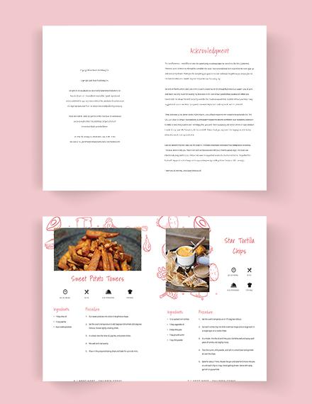 Editable Kindergarden Cookbook Template