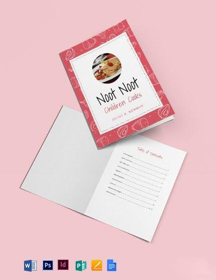 Kindergarden Cookbook Template
