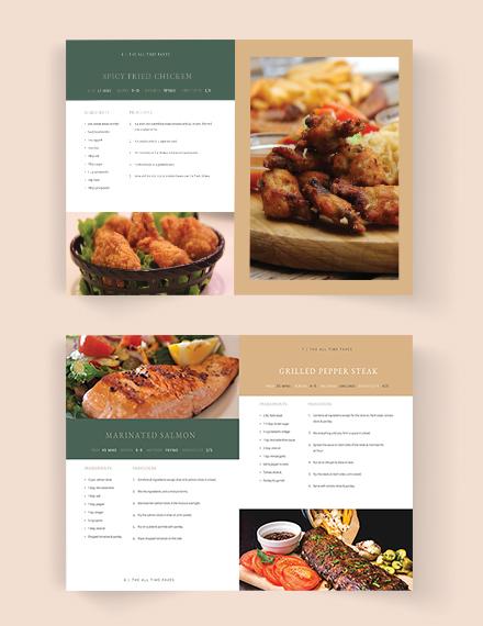 Download Journal Cookbook Template