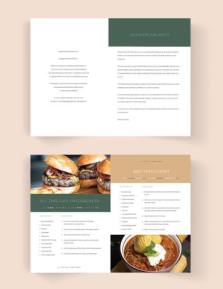 Editable Journal Cookbook Template