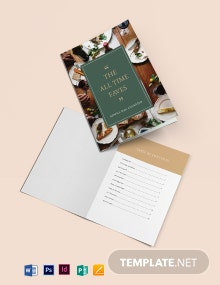 Journal Cookbook Template