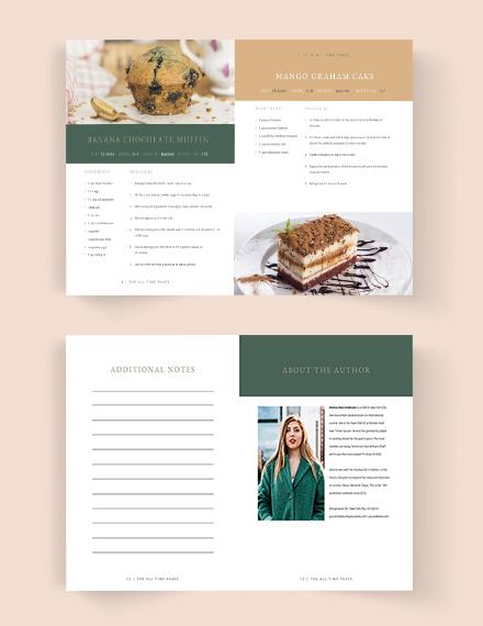 Printable Journal Cookbook Template