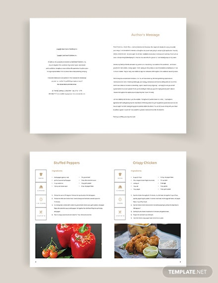 Editable Home Made Cookbook Template