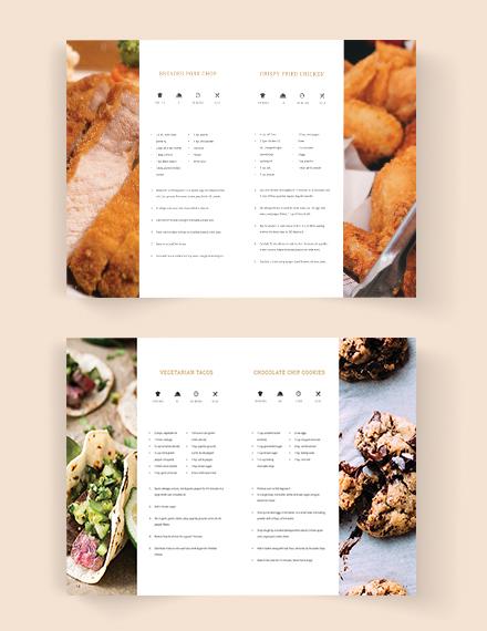 Download Fundraiser Cookbook Template