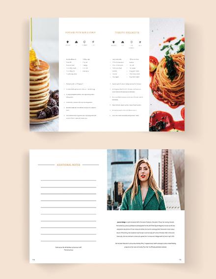Printable Fundraiser Cookbook Template