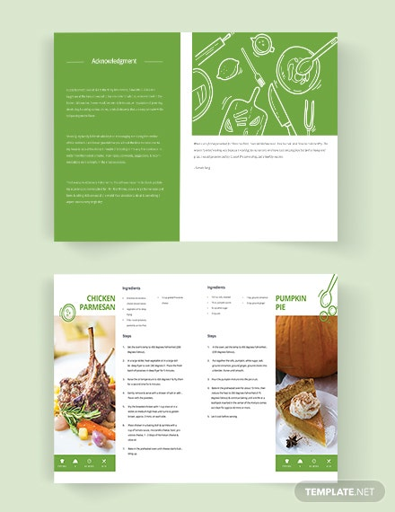 Editable Healthy Cookbook Template