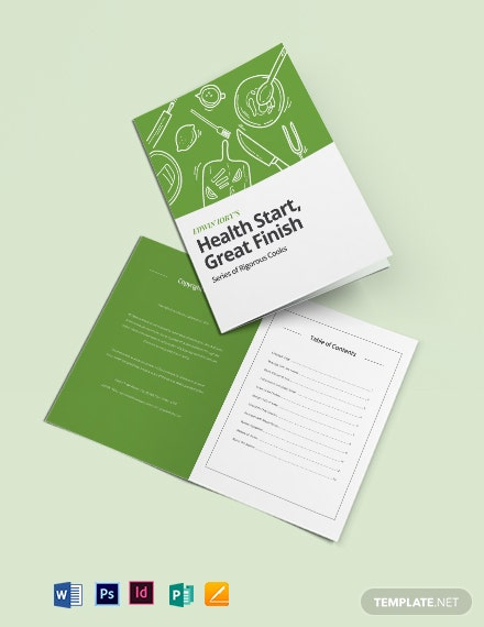 Healthy Cookbook Template