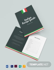 Italian Cookbook Template