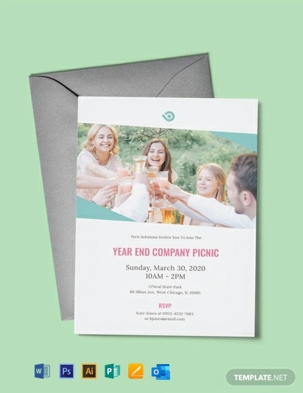 Free Company Picnic Invitation Template