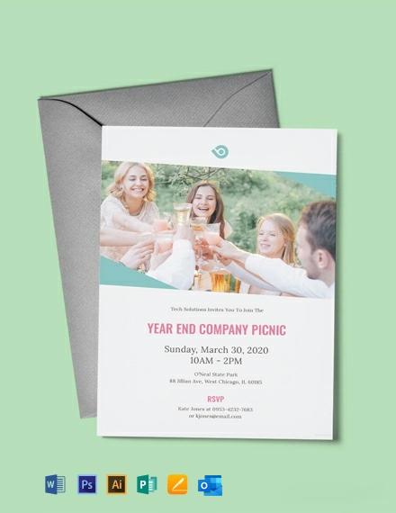 Free Company Picnic Invitation Template
