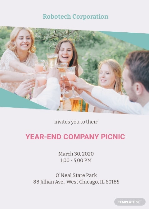 Company Picnic Invitation Template