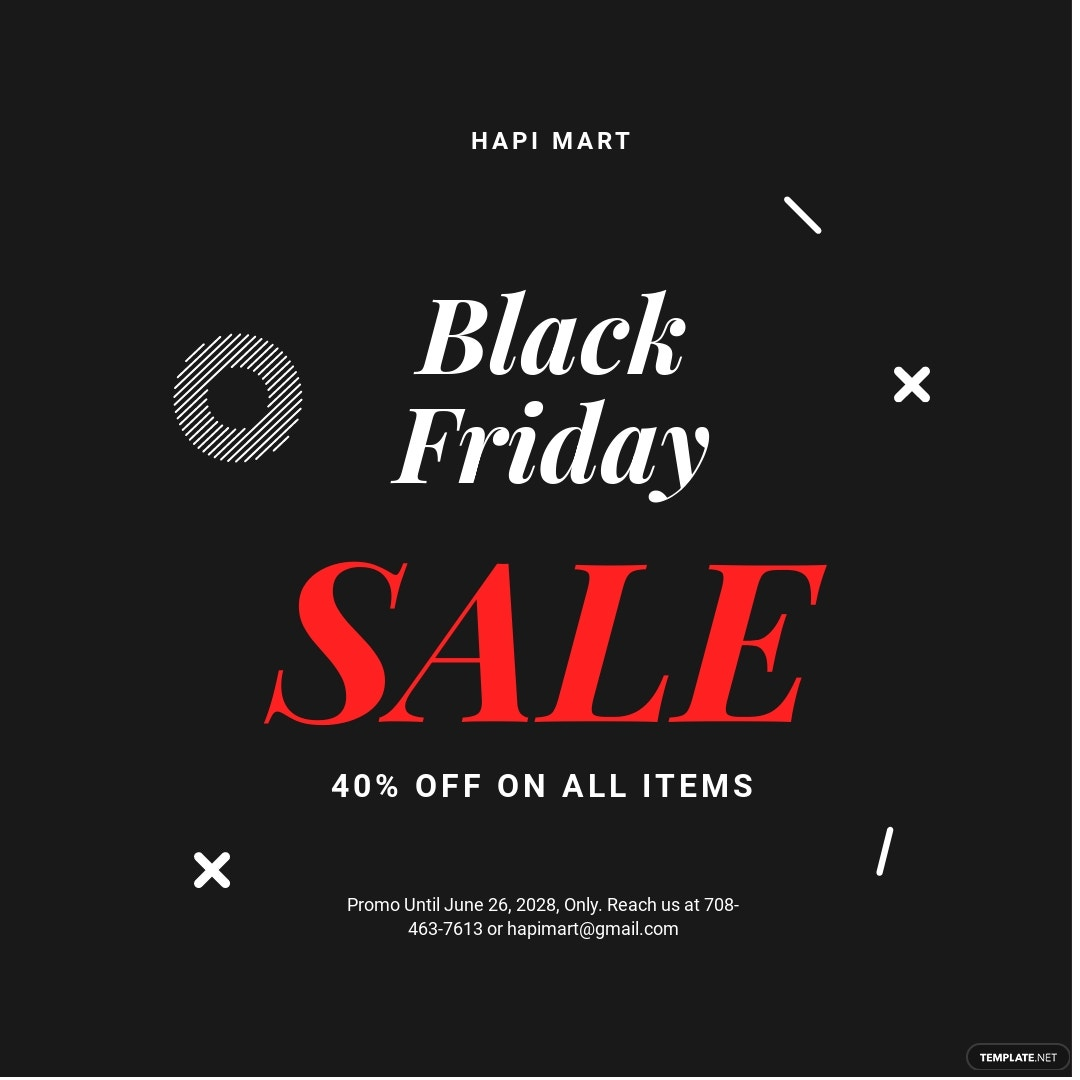 Free Black Friday Sale Instagram Post Template