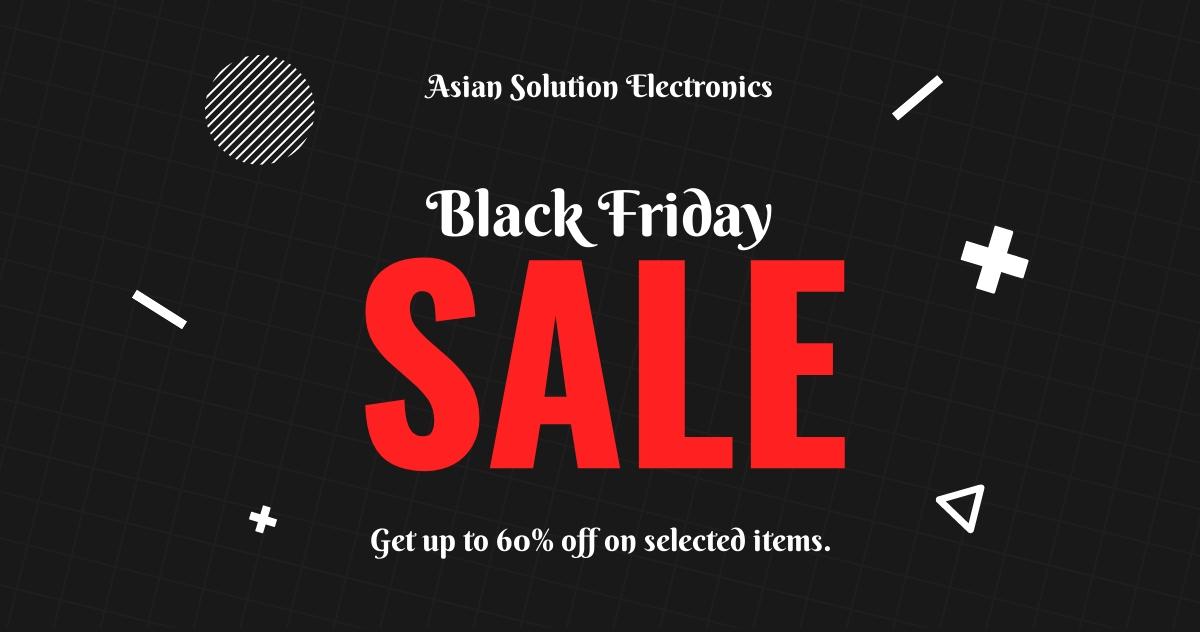 Free Black Friday Sale Linkedin Post Template.jpe