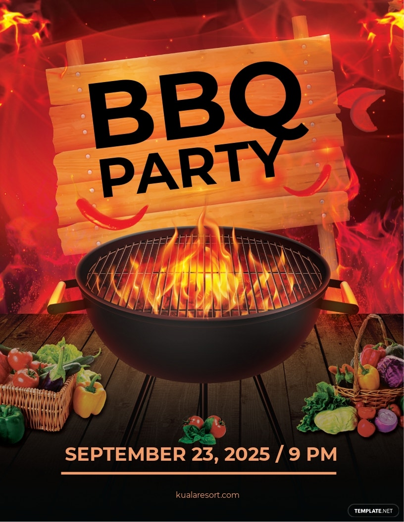 BBQ Party Flyer Template.jpe