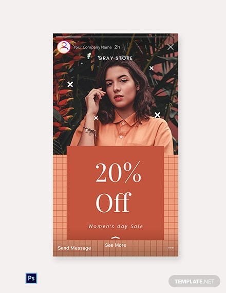 Free Creative Holiday Sale Instagram Story Template