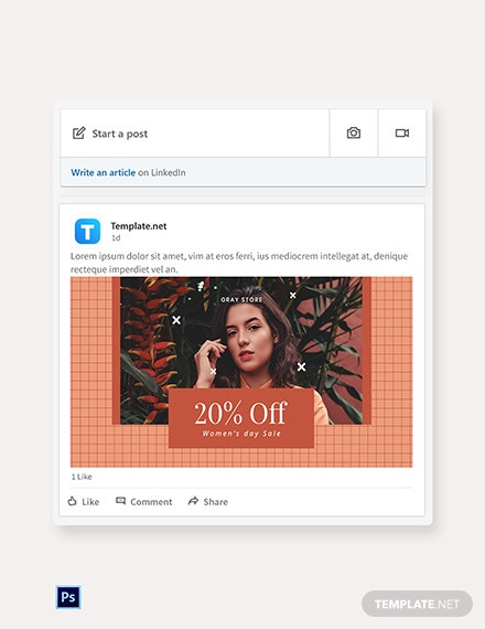 Creative Holiday Sale Linkedin Blog Post Template [Free PSD]