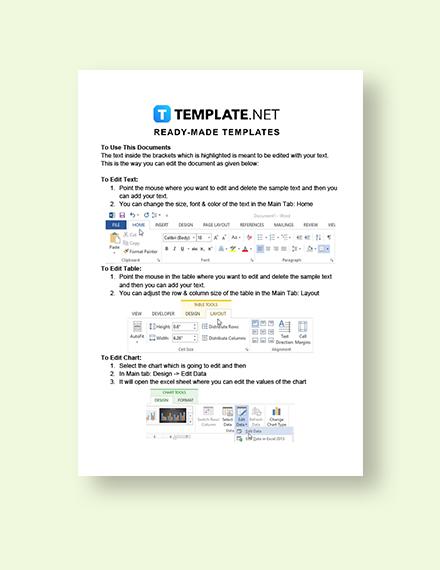 Business Termination Acceptance Letter Instructions