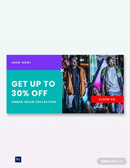 Free Holiday Off Sale Blog Image Template