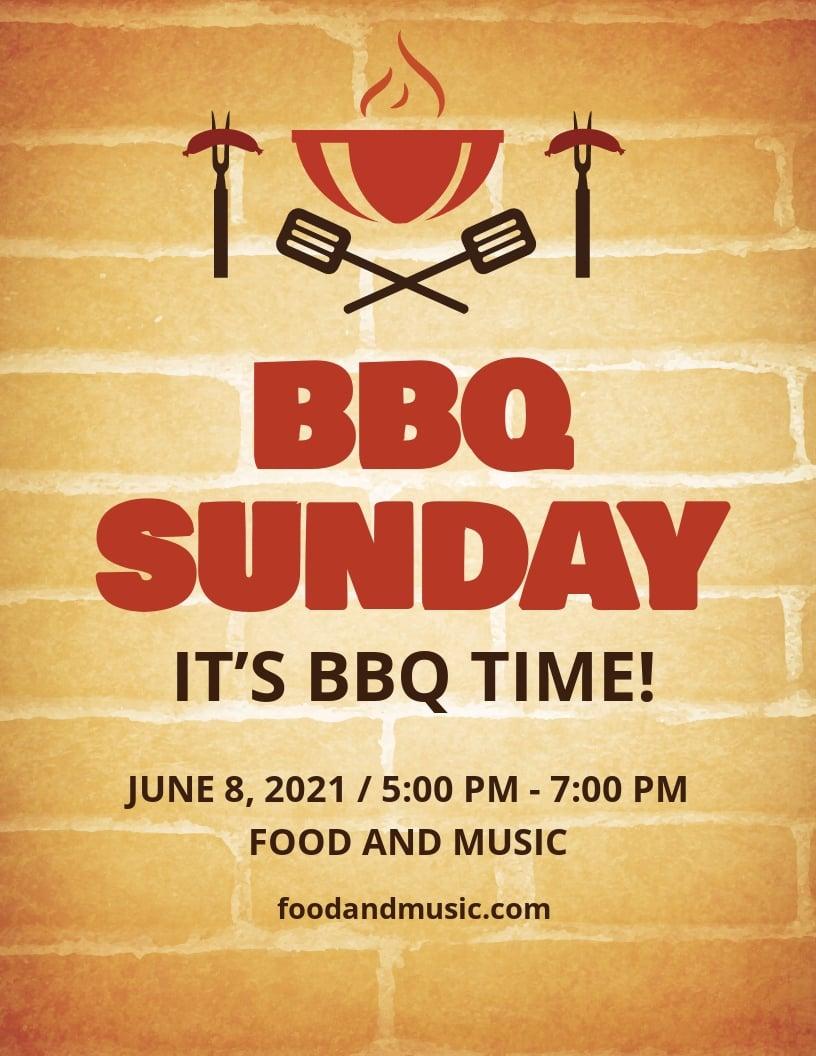BBQ Sunday Flyer Template