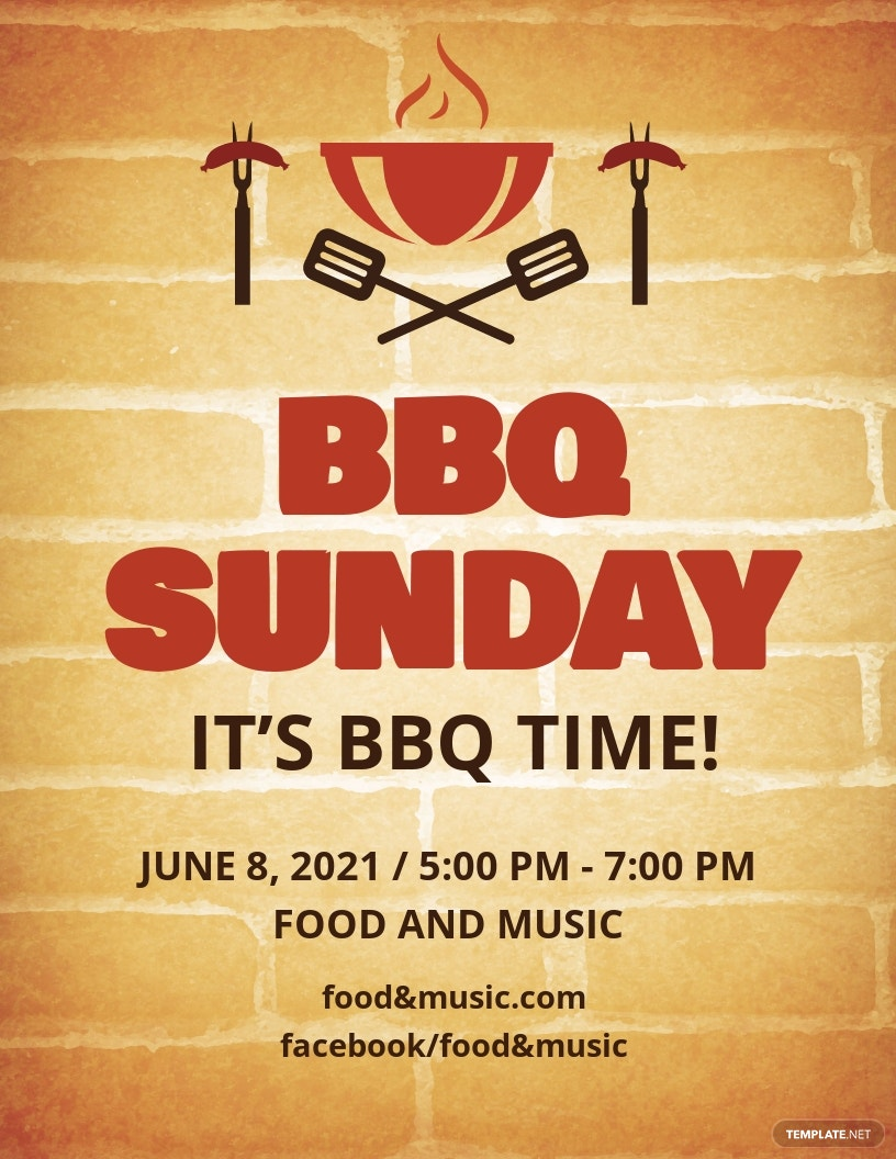 BBQ Sunday Flyer Template