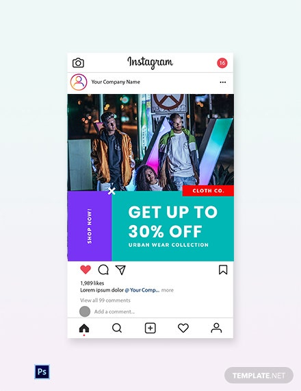 Free Holiday Off Sale Instagram Post Template