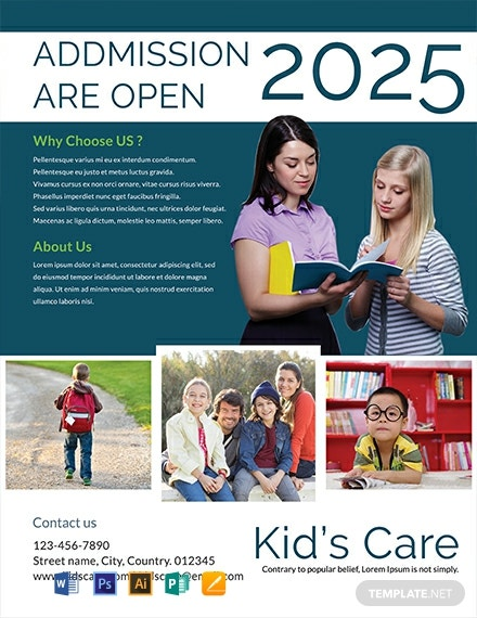 Kids Day Care Flyer Template
