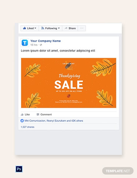 Free Holiday Special Sale Facebook Post Template