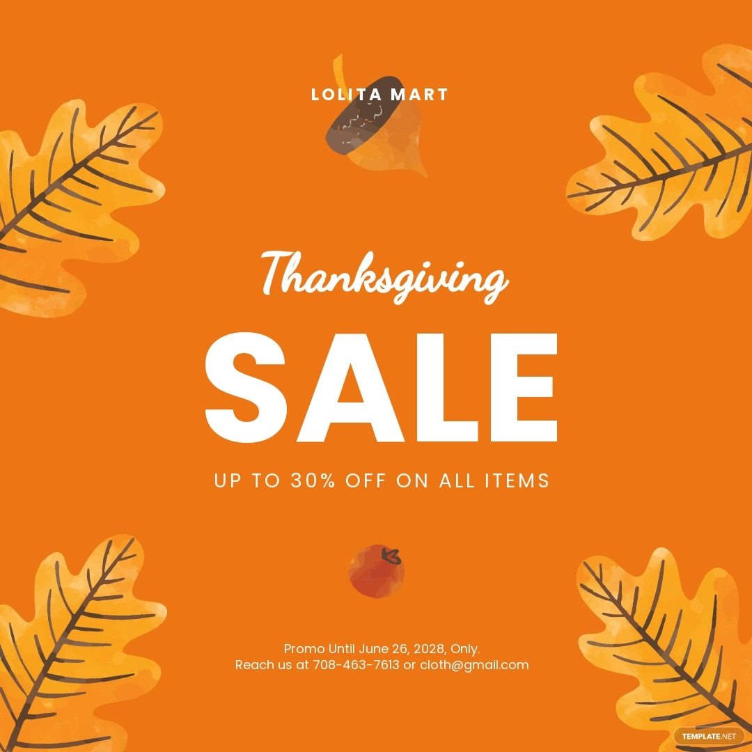 Free Holiday Special Sale Instagram Post Template