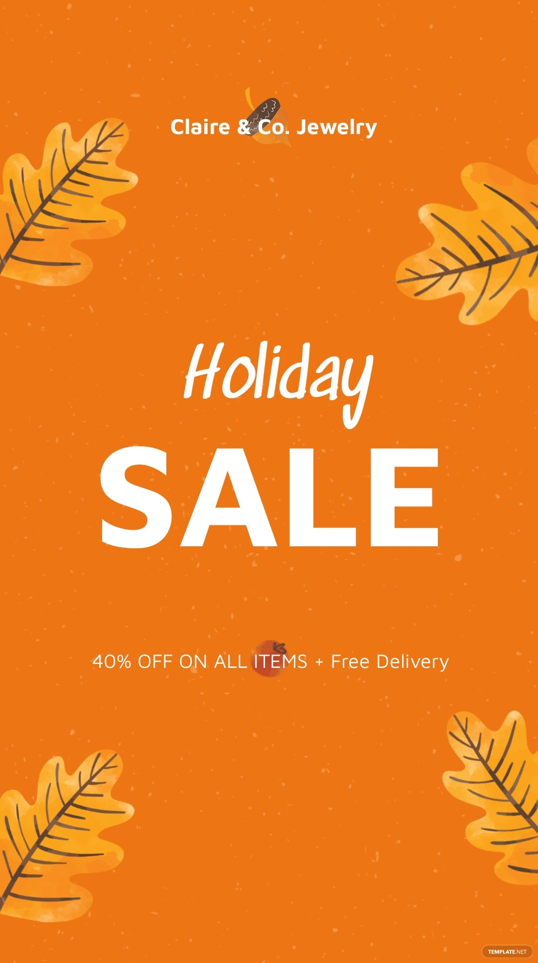 Free Holiday Special Sale Instagram Story Template