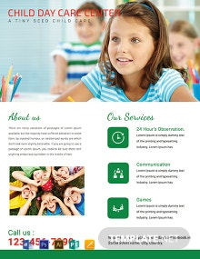 Free Child Day Care Flyer Template