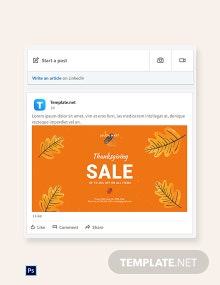 Free Holiday Special Sale Linkedin Blog Post Template