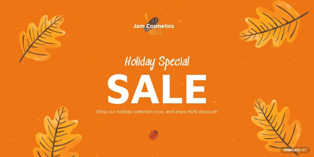 Free Holiday Special Sale Twitter Post Template