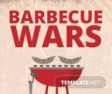 Free BBQ Wars Flyer Template