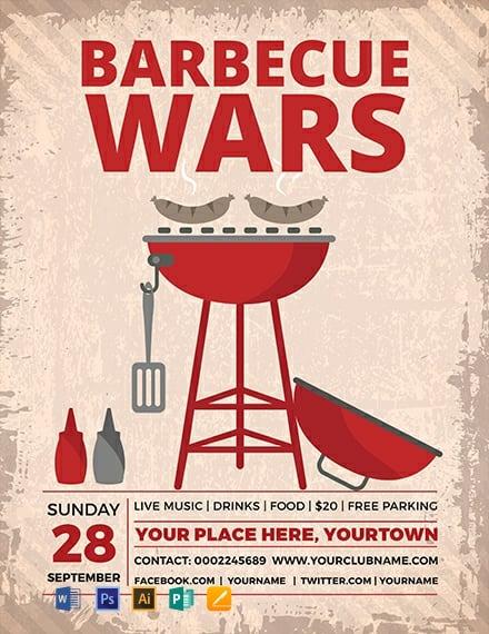 Free BBQ Wars Flyer Template