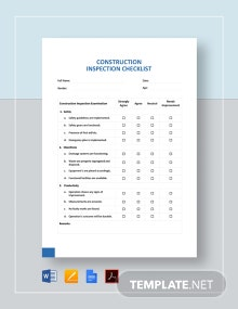 Construction Inspection Checklist Template