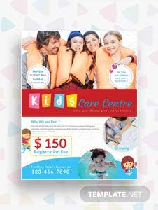 Free Day Care Center Flyer Template