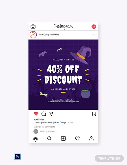 Free Simple Holiday Sale Instagram Post Template
