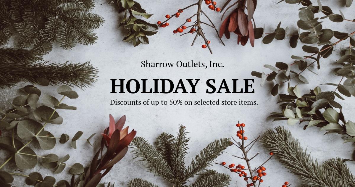 Free Simple Holiday Sale Linkedin Post Template.jpe