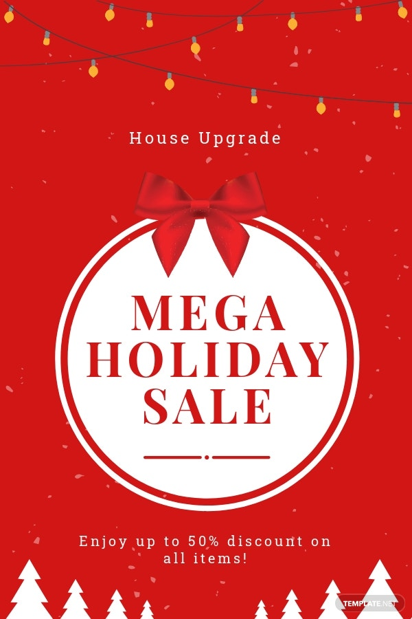 Free Simple Holiday Sale Pinterest Pin Template.jpe