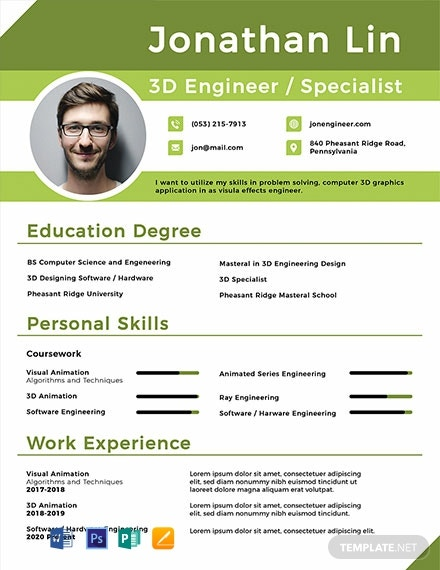Engineering Student Fresher Resume Template