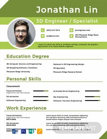 Free Engineering Student Fresher Resume Template