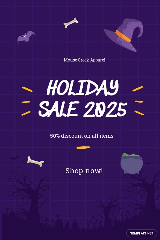 Free Simple Holiday Sale Tumblr Post Template